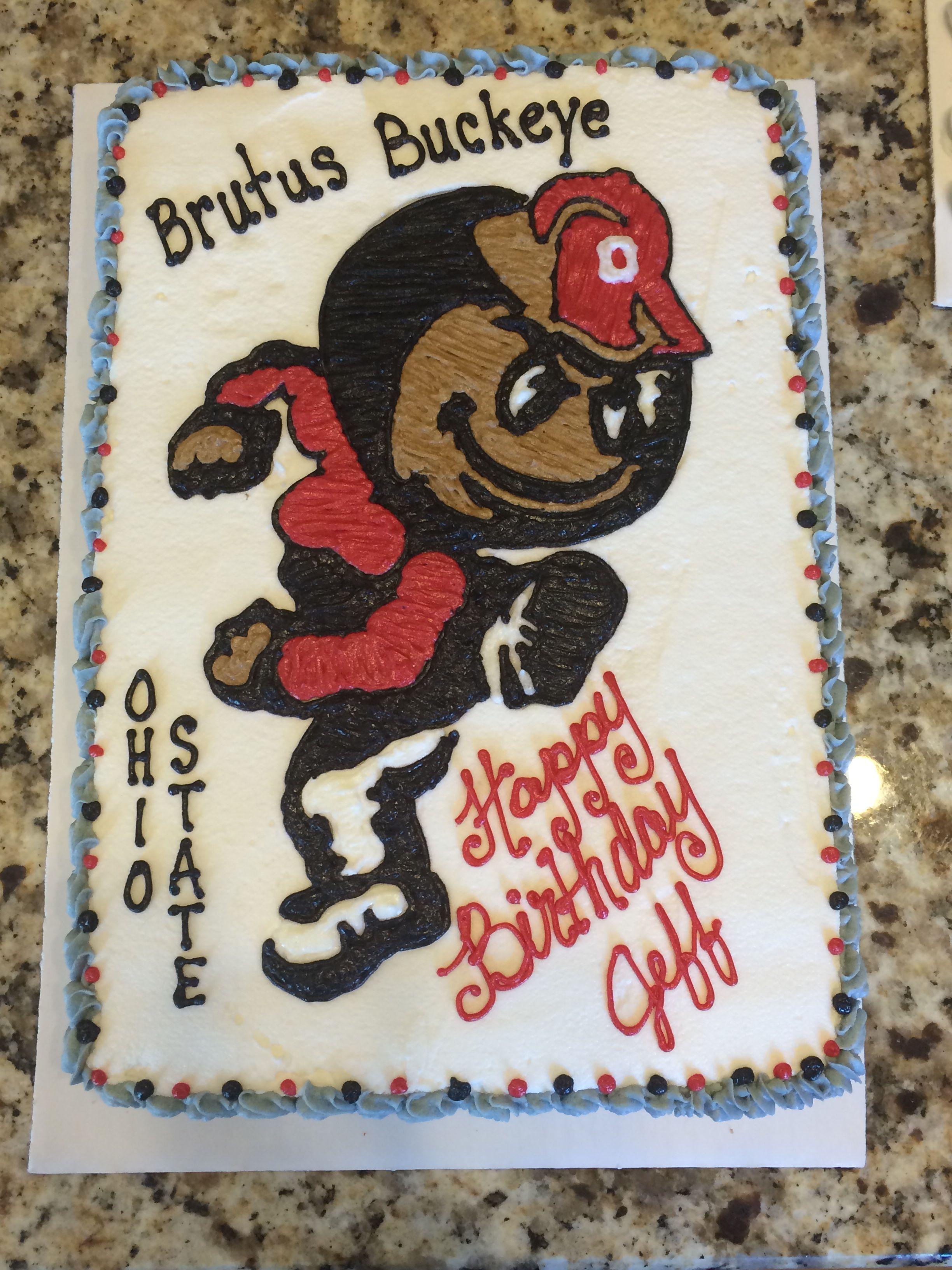 1 4 Sheet Ohio State Brutus Buckeye Cake 30 Call Jaci 740
