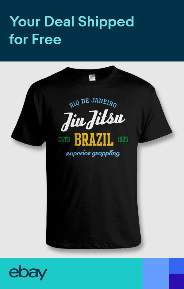BRAZILIAN JIU JITSU BJJ Mixed Martial Arts MMA Grappling T SHIRT Size to 5XL