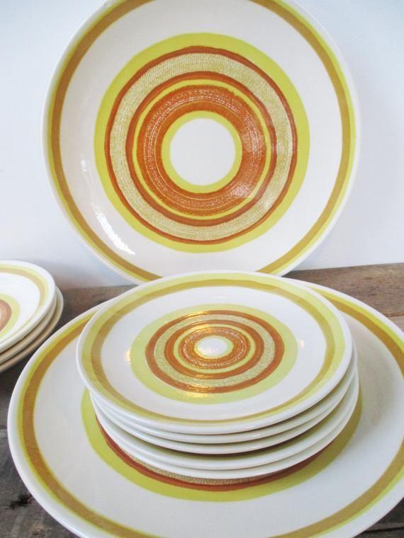Vintage Cavalier Ironstone Yuma Dishes  Set of Sunny Yellow
