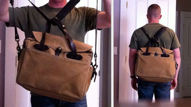 Turn Any Messenger Bag or Briefcase into a Backpack in an Instant ...