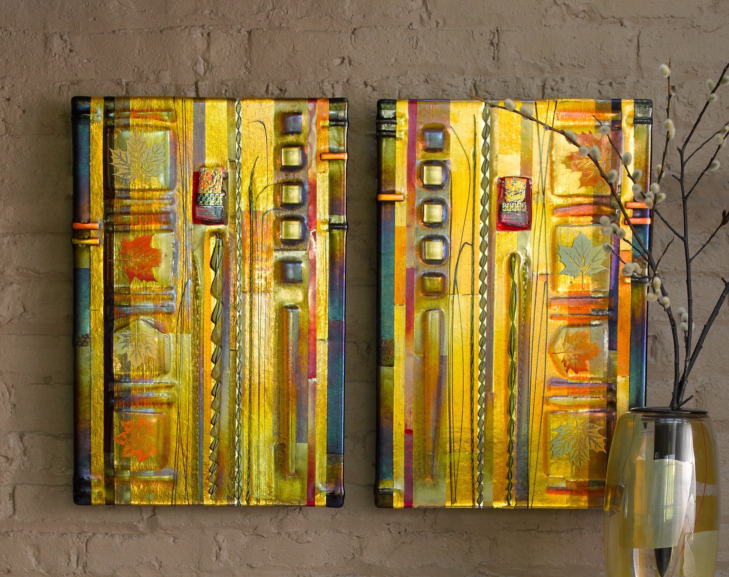 Amber Leaf Panels by Mark Ditzler (Art Glass Wall Sculpture | Разное ...