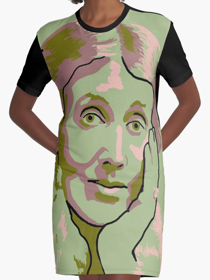 Virginia Woolf t-shirt dress by savantdesigns