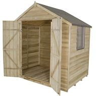 find forest natural timber overlap apex pressure treated wooden shed 7x5ft at homebase visit - Garden Sheds Homebase