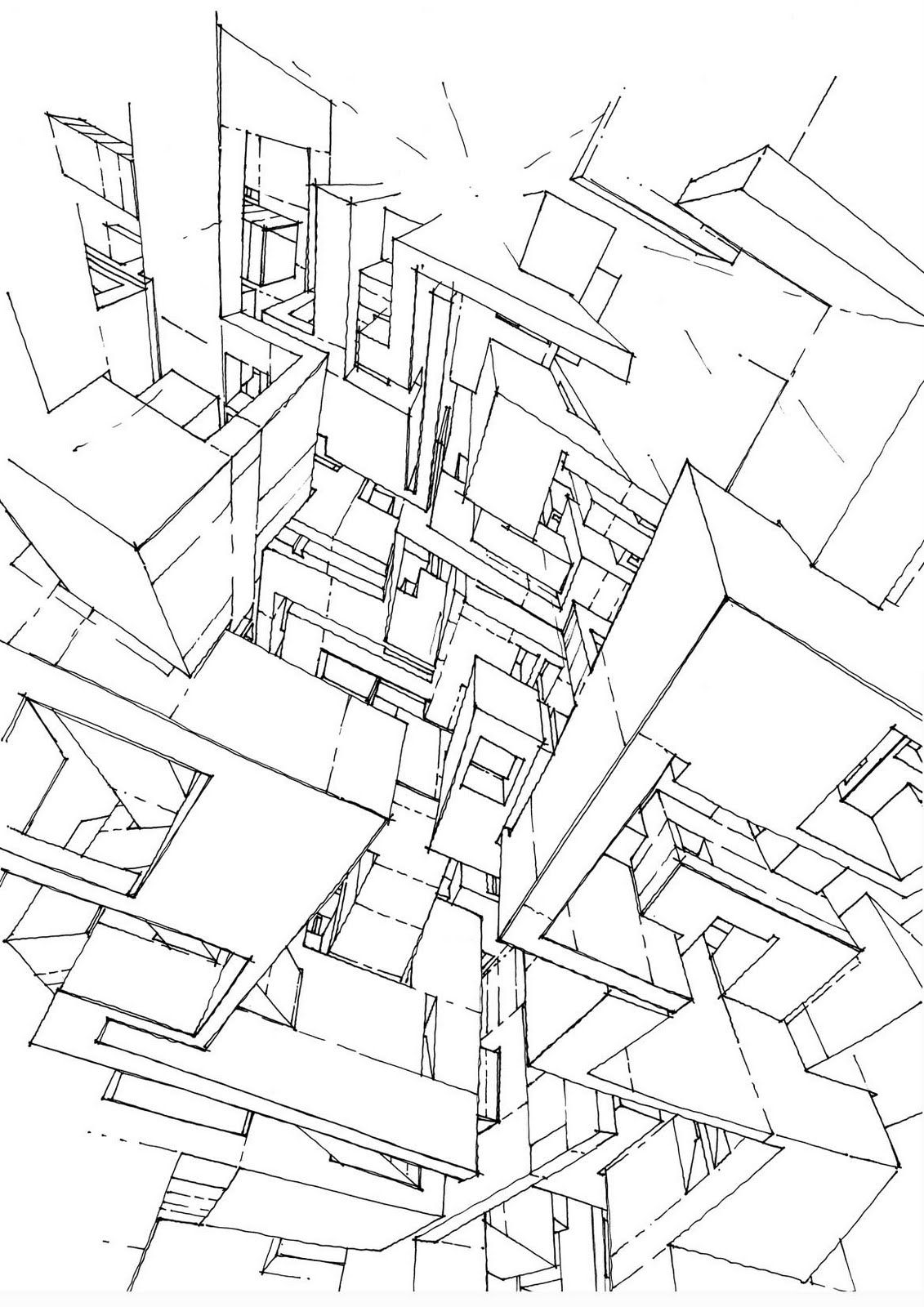 Mars Architectures Drawing By Stefan Davidovici