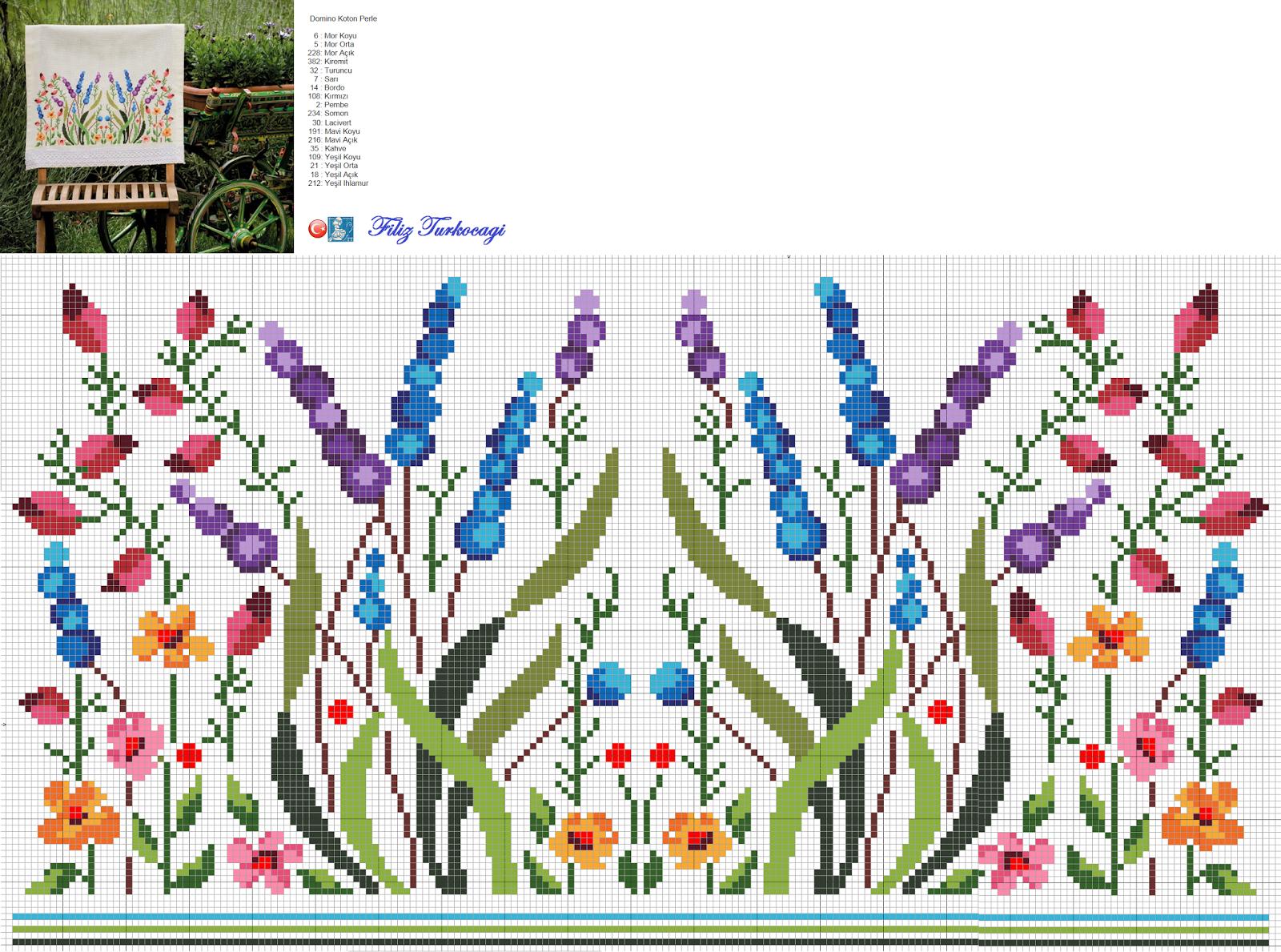 Χειροτεχνήματα: υπέροχα σχέδια για κεντητές κουρτίνες / cross stitch curtains