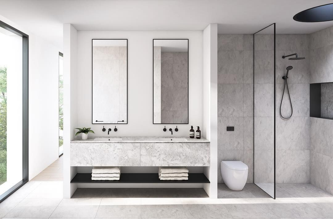 The Renwick Master Ensuite In Full Open And Spacious With A Marble Double Vanity Topped Off With Bathroom Interior Bathroom Interior Design Bathroom Trends
