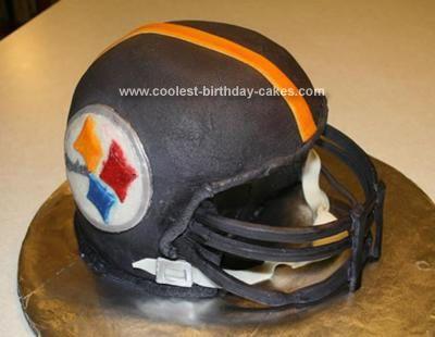 Coolest Steelers Helmet Cake Diy Birthday Cake Steelers Helmet Football Birthday Party