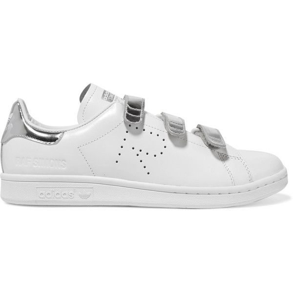 quality design a3a9d 1e5dd Adidas Originals + Raf Simons Stan Smith Comfort perforated... (220 AUD) ❤  liked on Polyvore featuring shoes, sneakers, white leather shoes, ...