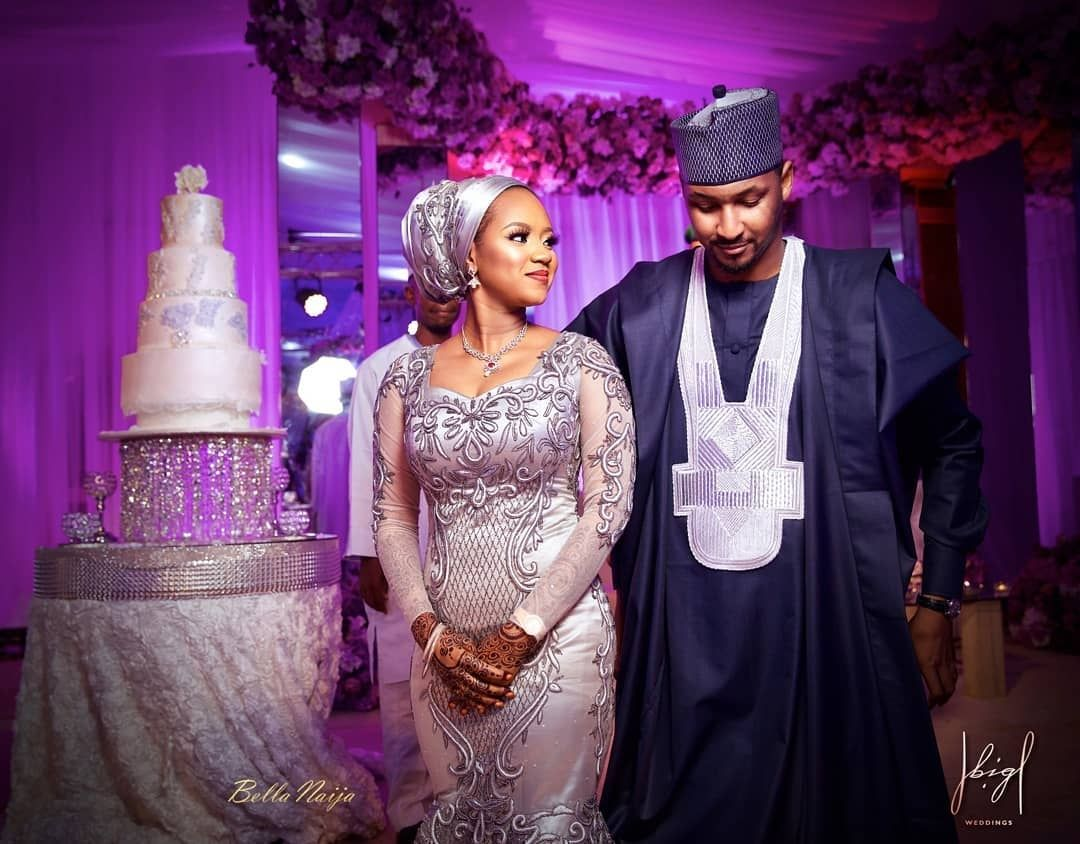 Pin By Rayyanatu On African Couture Dress Nigerian Wedding Dresses Traditional Nigerian Wedding Dress Muslim Brides