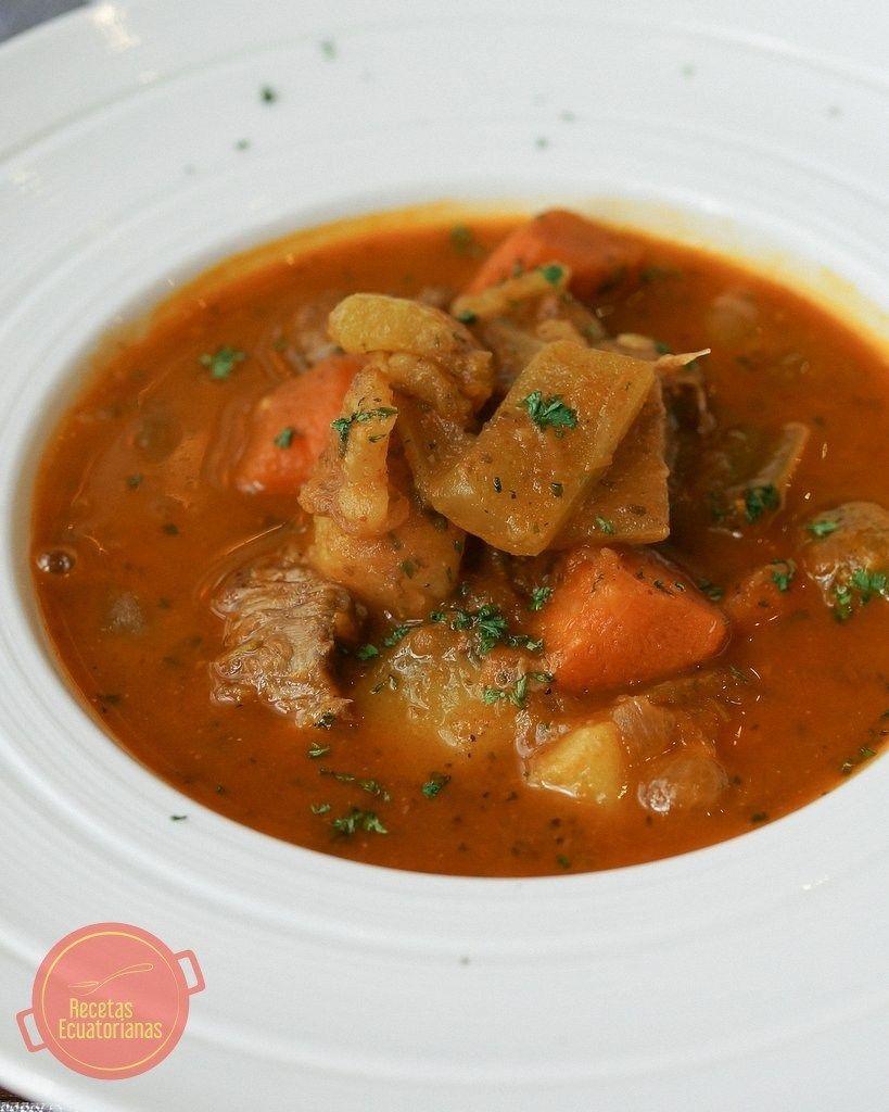 Estofado De Carne Con Papas Y Zanahoria Recipe Cooking Recipes Ecuadorian Food Mexican Food Recipes
