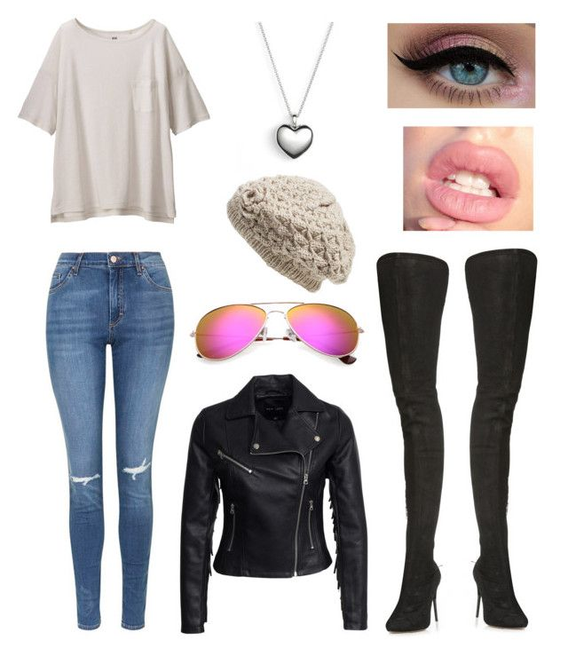 """""""Untitled #129"""" by silverflame476 on Polyvore featuring Maison Margiela, Topshop, Uniqlo, New Look, Pandora and Nirvanna Designs"""