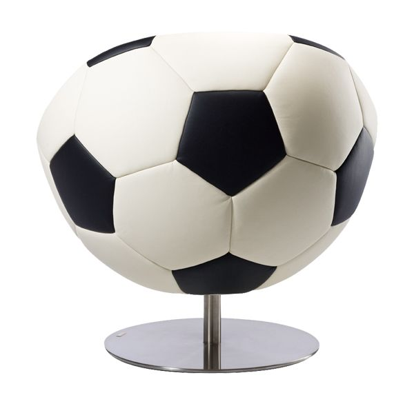 Leather Soccer Chair   Soccer Themed Armchair U0027Hattricku0027 By Paolo Lillus