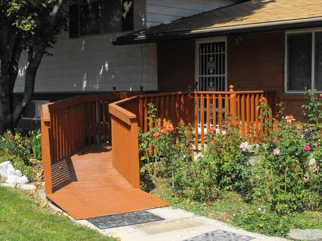 A Beautiful Simple Home Ramp That Fits With Cottage Ranch