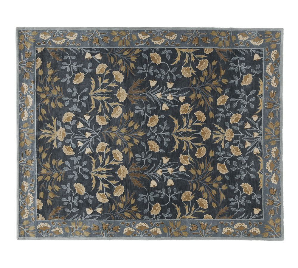 Adeline tufted wool rug 9x12 blue at pottery barn