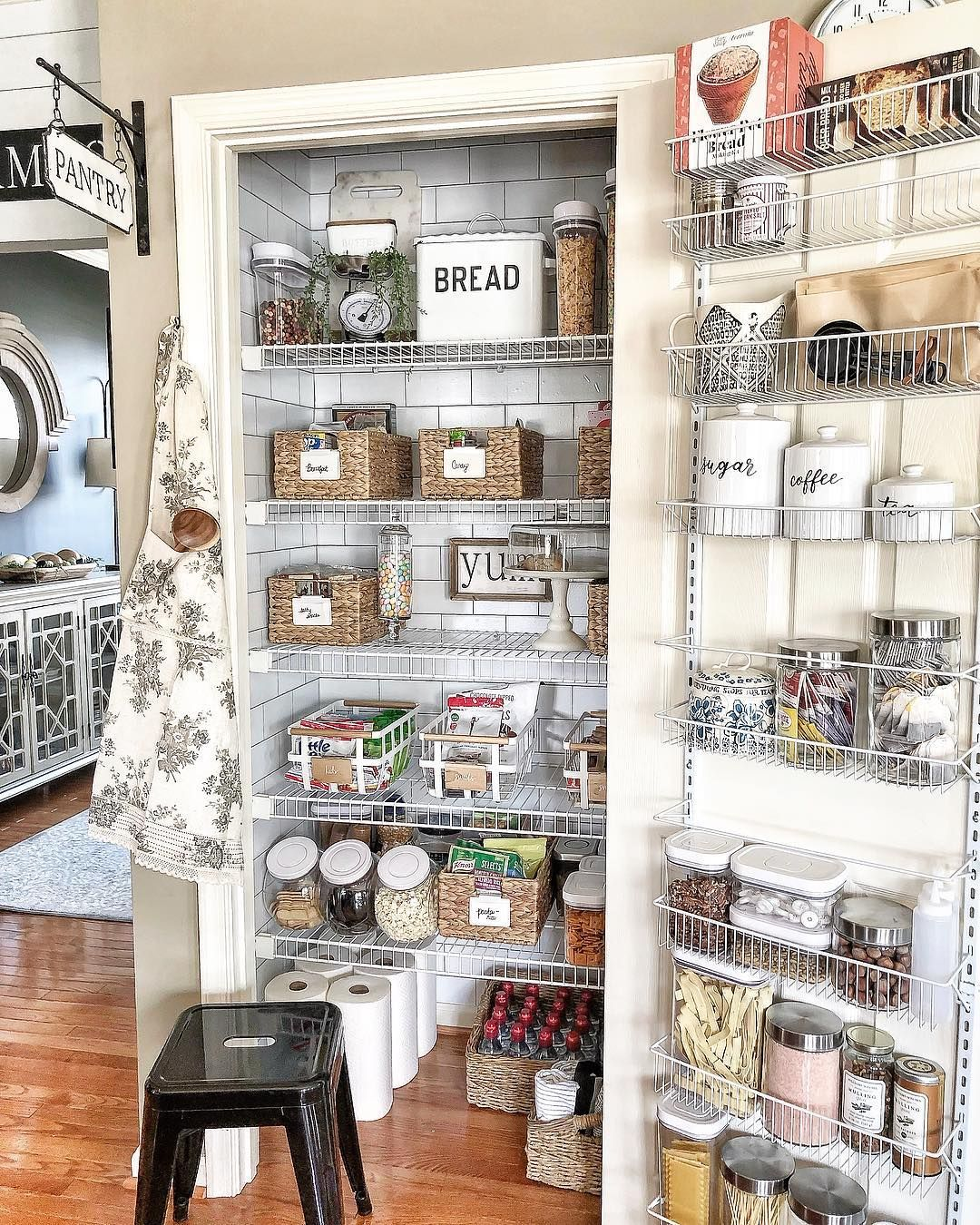 Love Joanna Gaines S Style Aesthetic Flip Through For Homes That Have That Same Modern Far Pantry Shelf Organizer Small Pantry Organization Pantry Inspiration