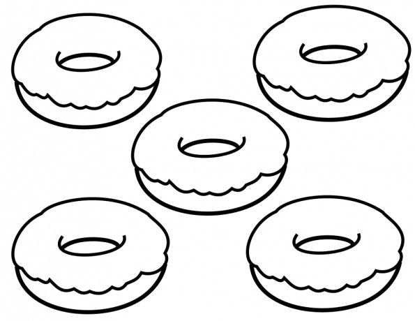 Donut Coloring Pages Best Coloring Pages For Kids Donut Coloring Page Donut Drawing Food Coloring Pages