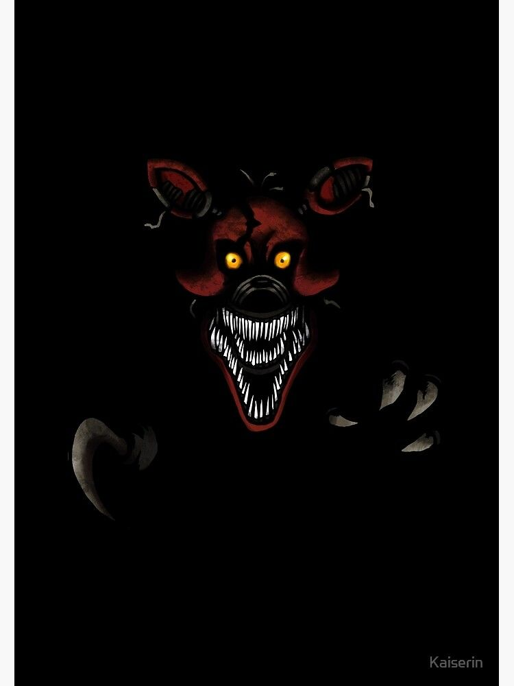 Five Nights At Freddy S Fnaf 4 Nightmare Foxy Spiral Notebook By Kaiserin In 2021 Five Nights At Freddy S Five Night Fnaf