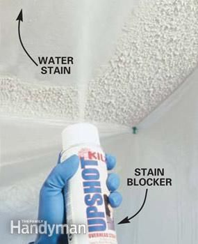 Patch A Water Stained Ceiling Or Textured Ceiling Home