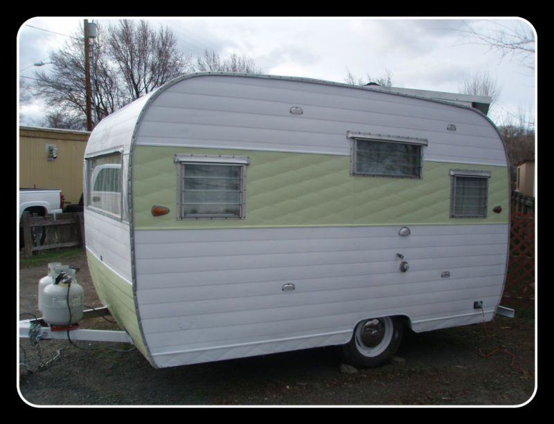 1964 aloha vintage travel trailer 12ft in rvs campers for Ebay motors car trailers