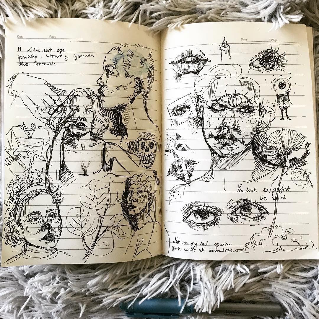 "Natalia Zalewska on Instagram: ""Just a messy skeches 🌚…"""