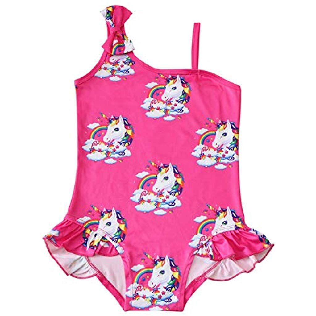 bekannte Marke bester Platz elegant im Stil FStoryWinyee Mädchen Badeanzug One Piece Einhorn Einteiler ...