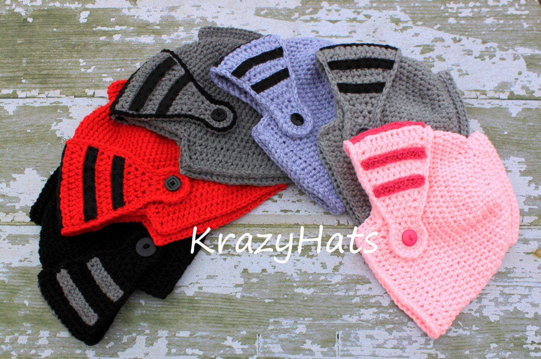 Knight Helmet hat.Crochet knight hat | Helmets, Knight and Crochet