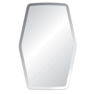 Spancraft Glass Regency Nolita Frameless Mirror Accent Mirrors Elegant Mirrors Beveled Edge Mirror