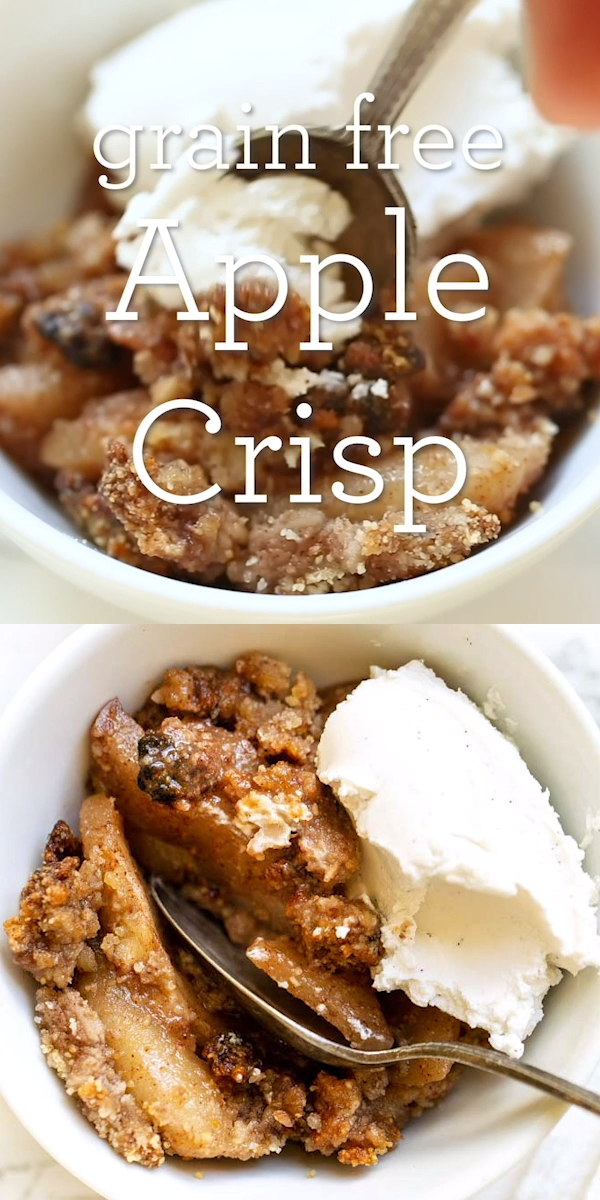 Grain-Free Apple Crisp #applecrisp