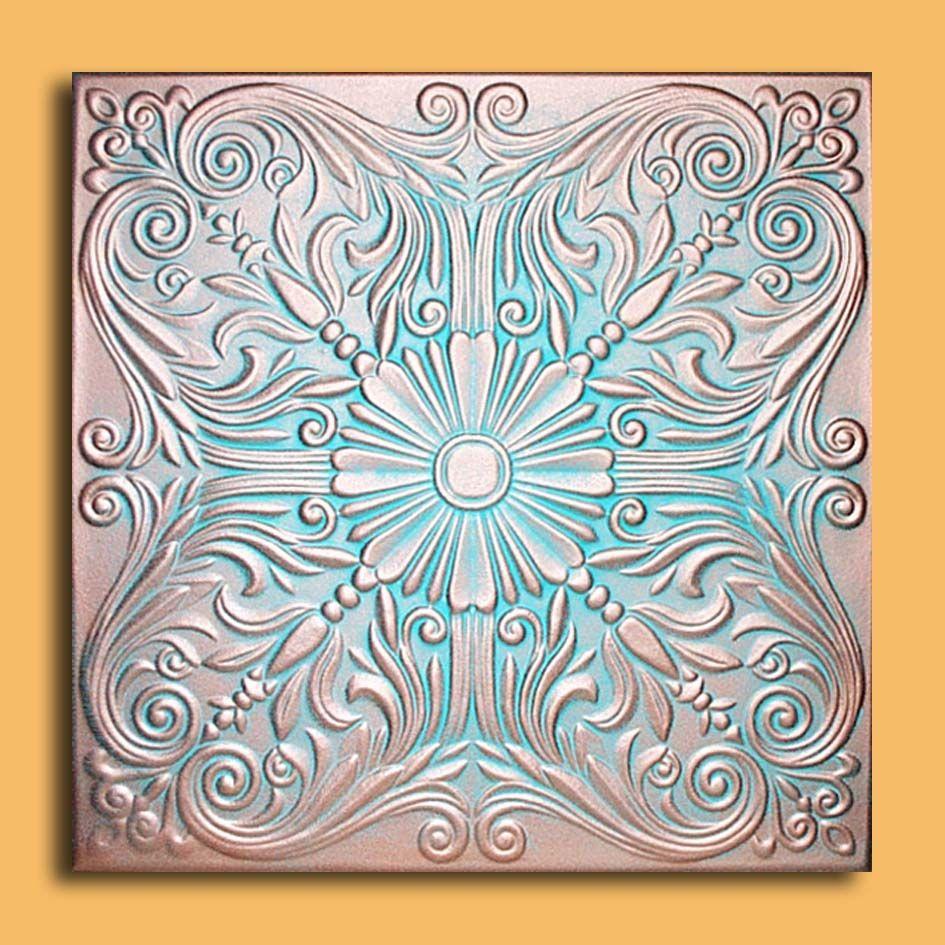 Antique Copper Patina Ceiling Tiles