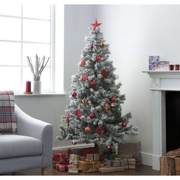 Buy Argos Home 6ft Snow Covered Christmas Tree Green Christmas Trees Argos Snow Covered Christmas Trees Green Christmas Tree Christmas Tree