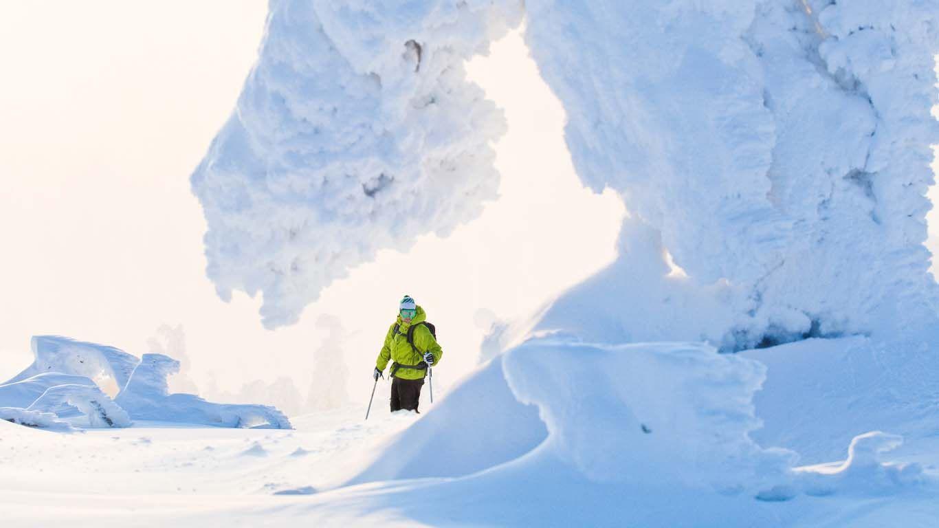 Winter Kakslauttanen Finnland Lappland Winter