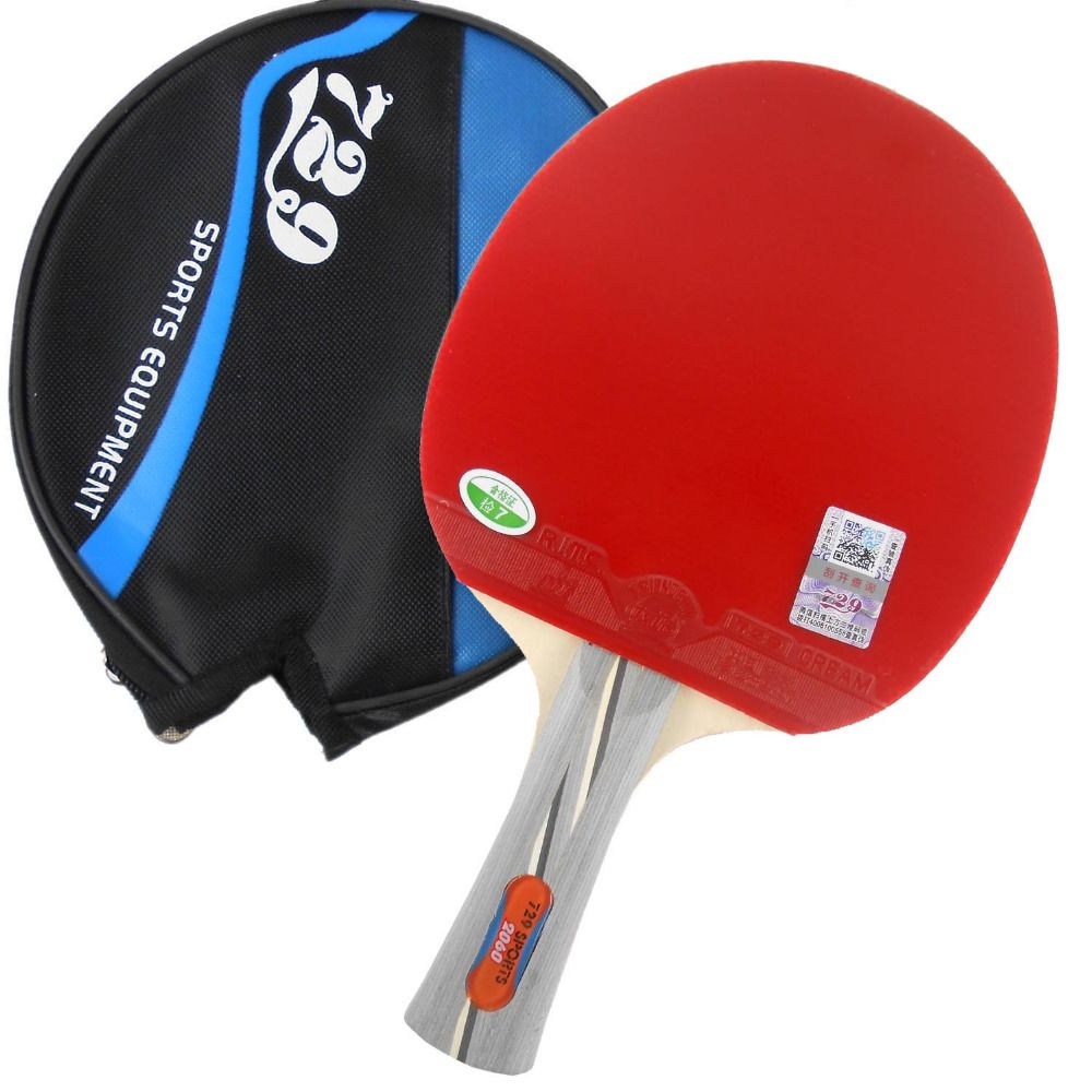 Ritc 729 Friendship 2060 Pips In Table Tennis Racket With Case For Pingpong Shakehand Long Handle Fl Table Tennis Racket Table Tennis Ping Pong