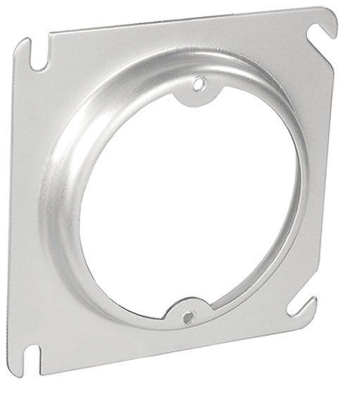 """Decorative Junction Box Covers 4"""" Square To Round Raised Device Covers Used In Walls And Ceilings"""