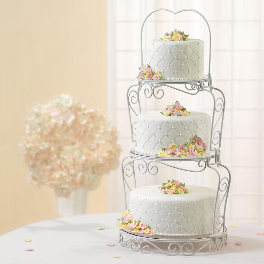 Wilton 307 841 Graceful Tiers Cake Display Tiered Cakes Wedding Cake Stands Fall Wedding Cakes