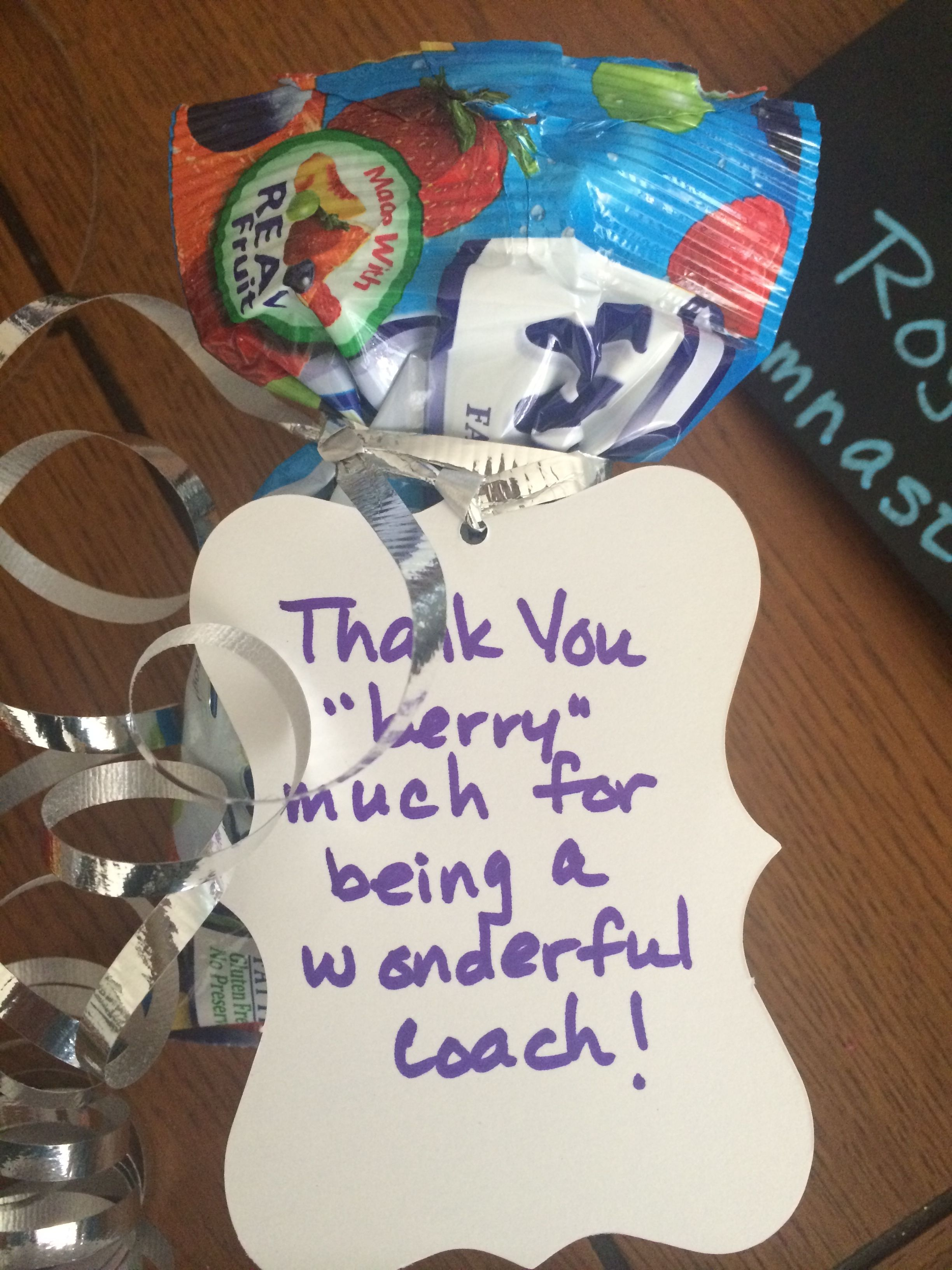 Gymnastics Gift Coach Thank You Gift I Wanted To Jazz Up A