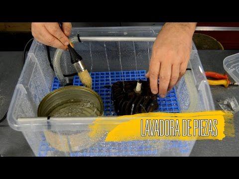 Hazte tu lavadora de piezas artesanal - YouTube