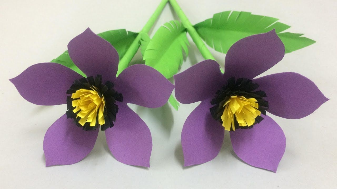 How To Make Beautiful Paper Flower Making Paper Flowers Step By