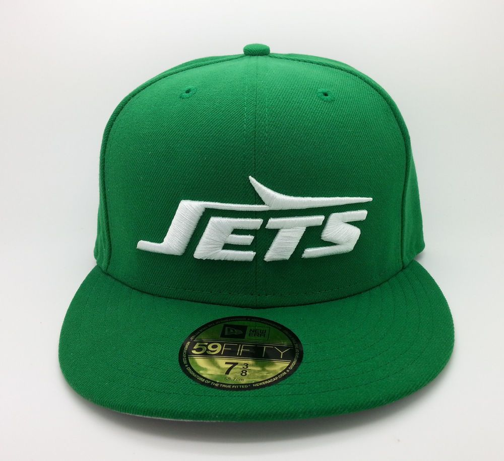 NEW YORK JETS NFL NEW ERA 59 FIFTY LOGO FITTED GREEN HAT