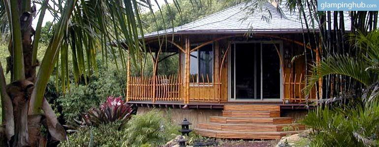 Sustainable Eco Retreat Cabins Near Beach In Maui Hawaii