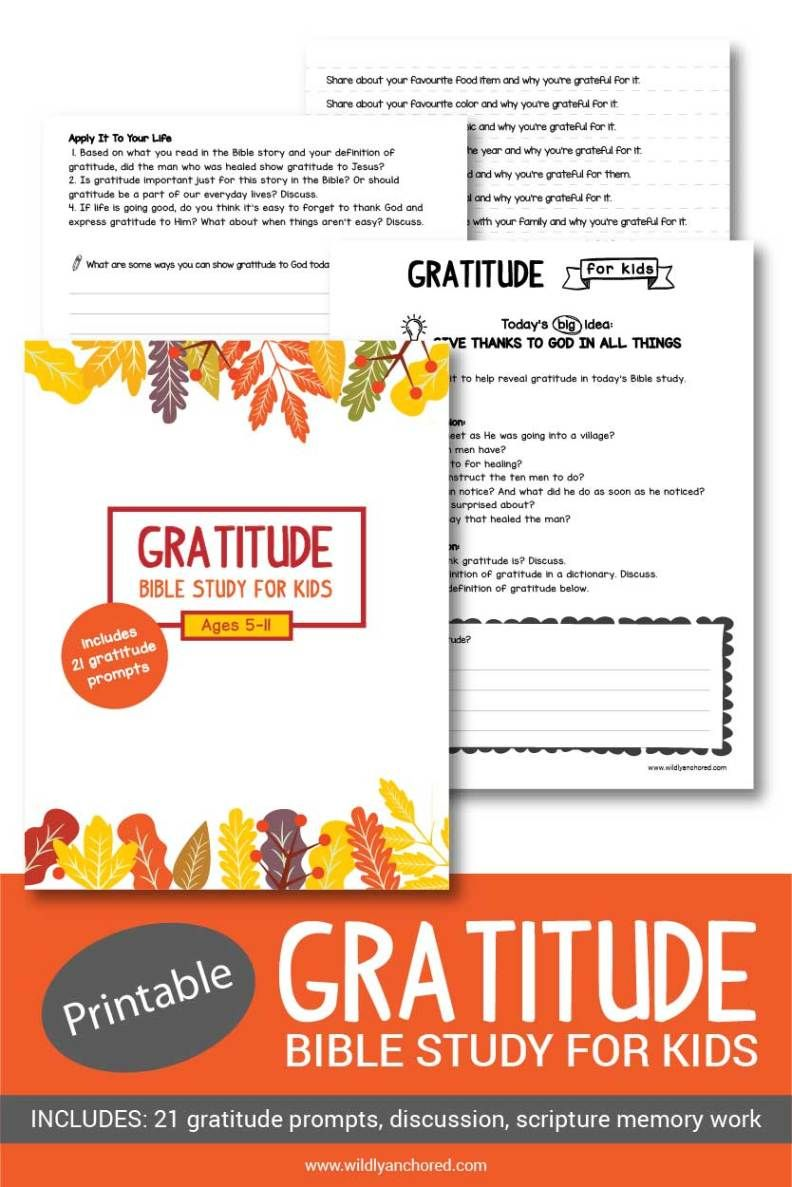 Gratitude Bible Study for Kids (Printable) Bible study