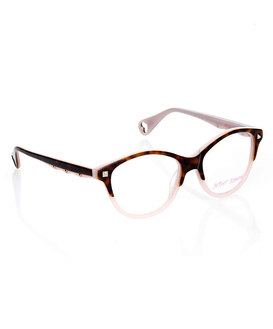 This Espresso Demure Confidence Eyeglasses by Betsey Johnson is ...