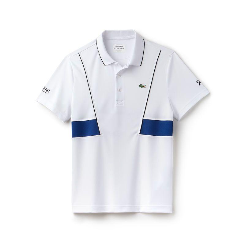 Een Lacoste Sport Tennis Polo Van Ultrabestendig Technisch Pique Met Contrasterende Afwerking En Strepen Ontwikkeld Door Lacoste Voor Novak Djokovic Ideaal Vo