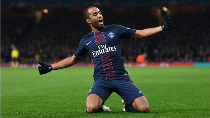 Lucas marcou o gol de empate do Paris-Saint Germain