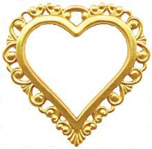 Large Heart Shaped Picture Frames Lacey Heart Shaped Frame Jewelry