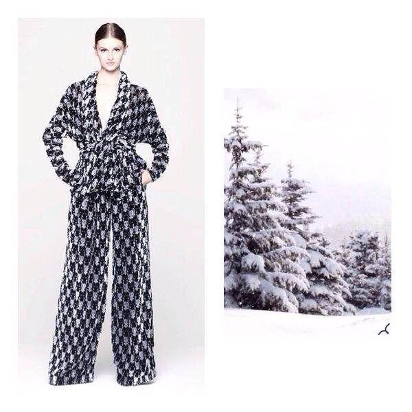 Larusmiani FW2014/15 Women's Collection   Devore velvet jacket and trousers