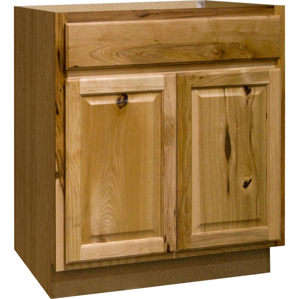 Hampton Bay Hampton Assembled 30x34 5x24 In Sink Base Kitchen Cabinet In Natural Hickory Ksb30 Nhk The Home Depot Kitchen Cabinets Home Depot Home Depot Kitchen Base Cabinets