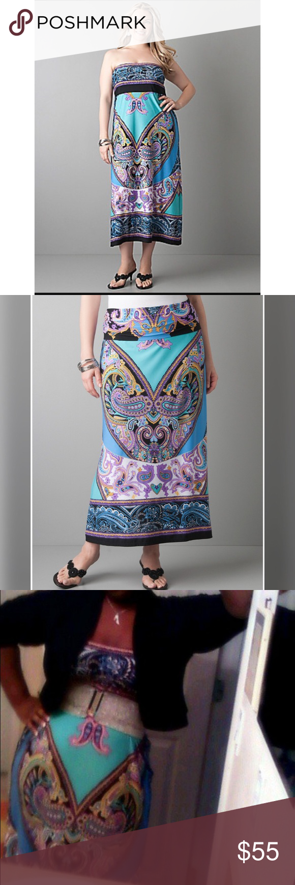 Plus size Maxi convertible dress/skirt (worn once) Lane Bryant Dresses