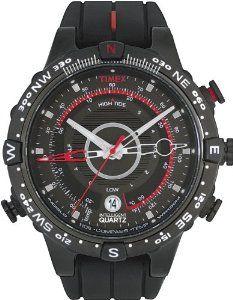b421b3cef65 Timex Men s Intelligent Quartz Adventure Series Tide Temp Compass Black  Silicone Strap Watch