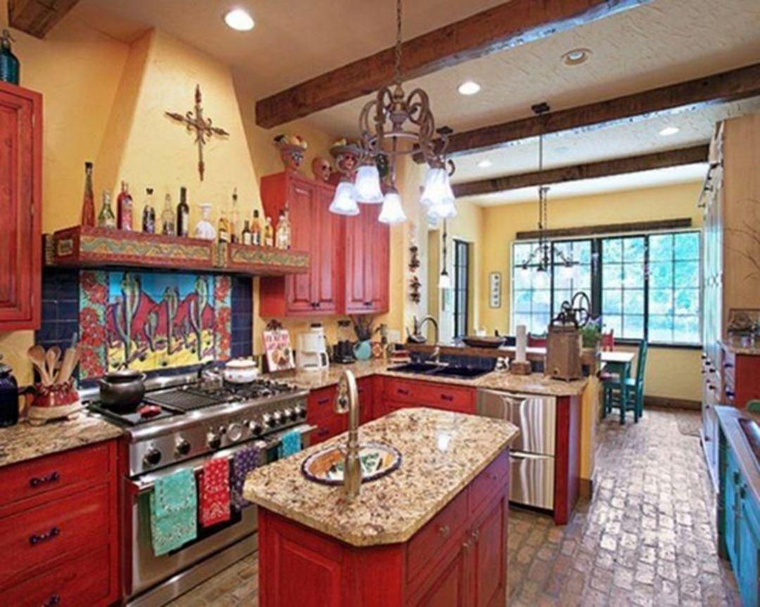 25 Spanish Kitchen Design Ideas To Inspire You Mexican Style Kitchens Mexican Kitchen Decor Mexican Home Decor