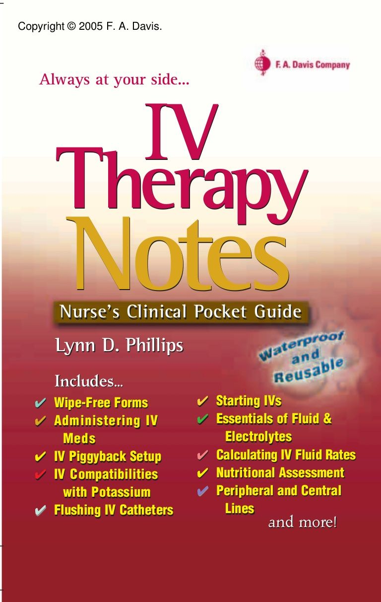 davis-iv-therapy-notes-nurse-clinical-pocket-guide by PrettyLady87 via  Slideshare